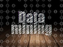 Data concept: Data Mining in grunge dark room Stock Images