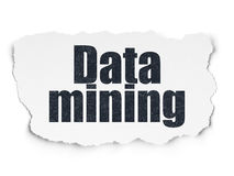 Data concept: Data Mining on Torn Paper background Royalty Free Stock Photo