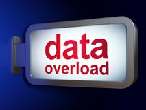 Data concept: Data Overload on billboard background. Data concept: Data Overload on advertising billboard background, 3D rendering Royalty Free Stock Photo