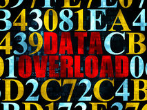 Data concept: Data Overload on Digital background Royalty Free Stock Photo