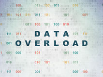 Data concept: Data Overload on Digital Paper Royalty Free Stock Photography