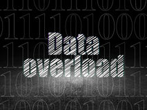 Data concept: Data Overload in grunge dark room Stock Photos