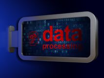 Data concept: Data Processing and Head With Gears on billboard background. Data concept: Data Processing and Head With Gears on advertising billboard background Stock Photos