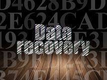 Data concept: Data Recovery in grunge dark room Royalty Free Stock Photography