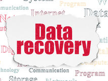 Data concept: Data Recovery on Torn Paper Royalty Free Stock Photography
