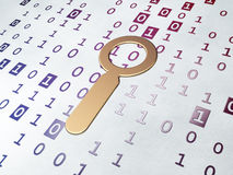 Data concept: Golden Search on Binary Code background Royalty Free Stock Image