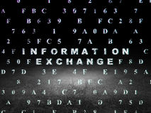 Data concept: Information Exchange in grunge dark Royalty Free Stock Images