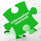 Data concept: Information Overload on puzzle Royalty Free Stock Photo