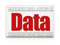 Data concept: newspaper headline Data Stock Images