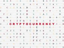 Data concept: Cryptocurrency on wall background Royalty Free Stock Photography