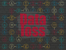 Data concept: Data Loss on wall background Royalty Free Stock Images