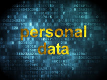 Data concept: Personal Data on digital background Stock Photography