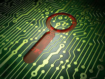 Data concept: Search on circuit board background Stock Photography