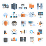 Data Connection Icons Set Cloud Computer Protection Database Synchronize Technology Concept Royalty Free Stock Image
