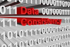 Data consistency. In the form of binary code, 3D illustration vector illustration