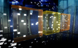 Data cubes in the cyberspace 2 Stock Photos