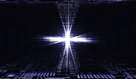 data 3d framför teknologiöverföring abstrakt internet för illustration 3d Chipen i handling Organisation av stora DATA för arbete Royaltyfri Foto
