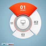 Data 3d growth chart. Data 3d growth chart art info. Vector illustration Royalty Free Stock Photos