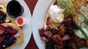 Data da refeição matinal de sábado fotografia de stock