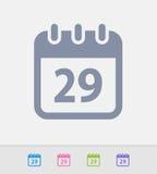 Data de calendário - ícones do granito ilustração stock