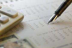 Data de pagamento financeira - imagem conservada em estoque Fotografia de Stock Royalty Free