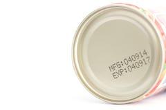 Data de validade macro em conservas alimentares fotos de stock