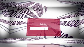 Data delete stock footage