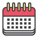 Data di calendario Immagine Stock Libera da Diritti