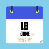 Data di calendario di giorno del ` s del padre Immagine Stock Libera da Diritti