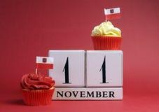Data di calendario per la festa dell'indipendenza nazionale della Polonia, l'11 novembre. Fotografie Stock