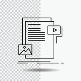 Data, document, file, media, website Line Icon on Transparent Background. Black Icon Vector Illustration. Vector EPS10 Abstract Template background vector illustration