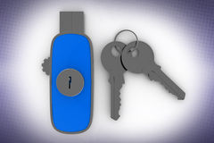 Data drive and  Keys In Halftone Background Royalty Free Stock Photos