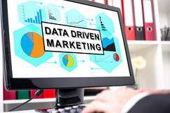 Data driven marketing concept on a computer screen Stock Image