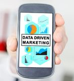 Data driven marketing concept on a smartphone Royalty Free Stock Photo