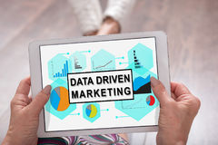 Data driven marketing concept on a tablet Royalty Free Stock Photos
