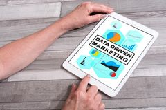 Data driven marketing concept on a tablet Royalty Free Stock Photography