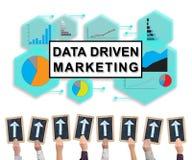 Data driven marketing concept on a whiteboard Stock Photos