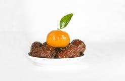 Data e laranja imagens de stock royalty free
