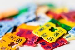 Data e preços plásticos de expiração Imagem de Stock Royalty Free