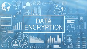 Data encryption, animated typography