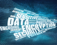 Data encryption background Royalty Free Stock Photo