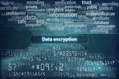 Data encryption background 2 Stock Image