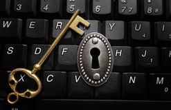 Data encryption concept stock image
