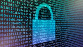 Encrypted Computer Data stock photo