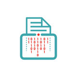Data encryption icon on tablet pc laptop vector illustration. Stock Images