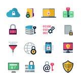 Data Encryption Icons Stock Photos