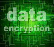 Data Encryption Indicates Protected Password And Cipher. Data Encryption Meaning Private Restricted And Privacy Royalty Free Stock Image