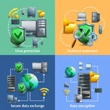 Data encryption and security icons set Royalty Free Stock Image