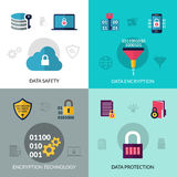 Data Encryption Set Stock Photography