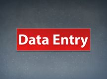 Data Entry Red Banner Abstract Background. Data Entry Isolated on Red Banner Abstract Background illustration Design royalty free illustration